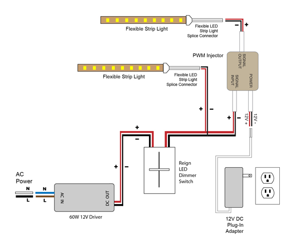 pwm injector wiring diagram with adapter3 vlightdeco trading (led) wiring diagrams for 12v led lighting crabtree dimmer switch wiring diagram at soozxer.org