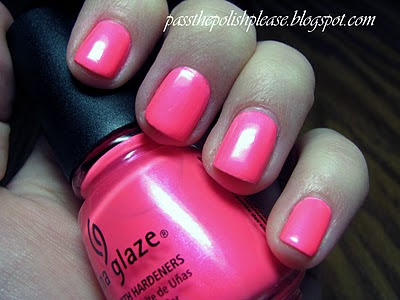 pass the polish please Wednesdays We Wear Pink China #1: China Glaze Pink Voltage Neon 5
