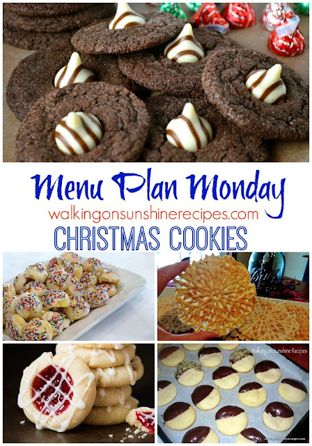 This week's Menu Plan Monday is all about Christmas Cookies.