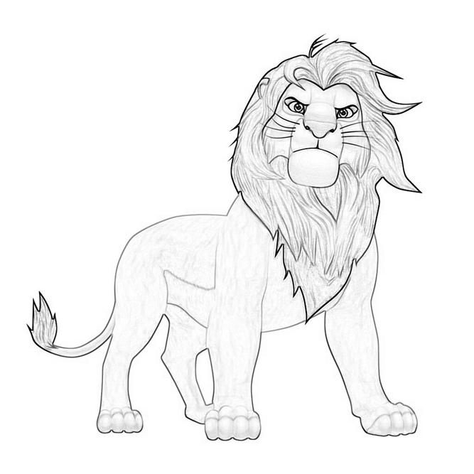 Printable The Lion King Simba Coloring Pages