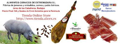 jamones ibericos de Extremadura
