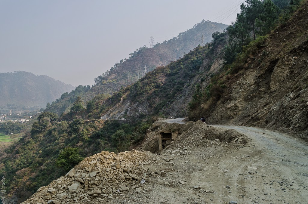 landslide in mountains uttarakhand, bike rides