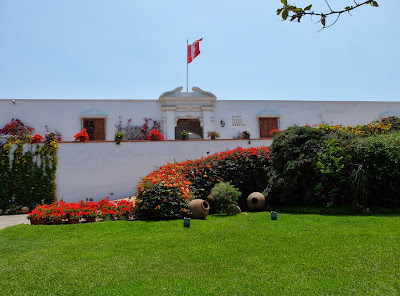 View of Larco Museum Entrance from Garden