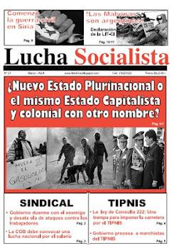 Salió el periodico Lucha Socialista n° 27