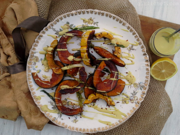 Roasted Winter Squash w/ Lemon-Tahini Dressing {12 Weeks of Winter Squash}