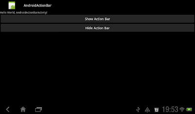 Action Bar On
