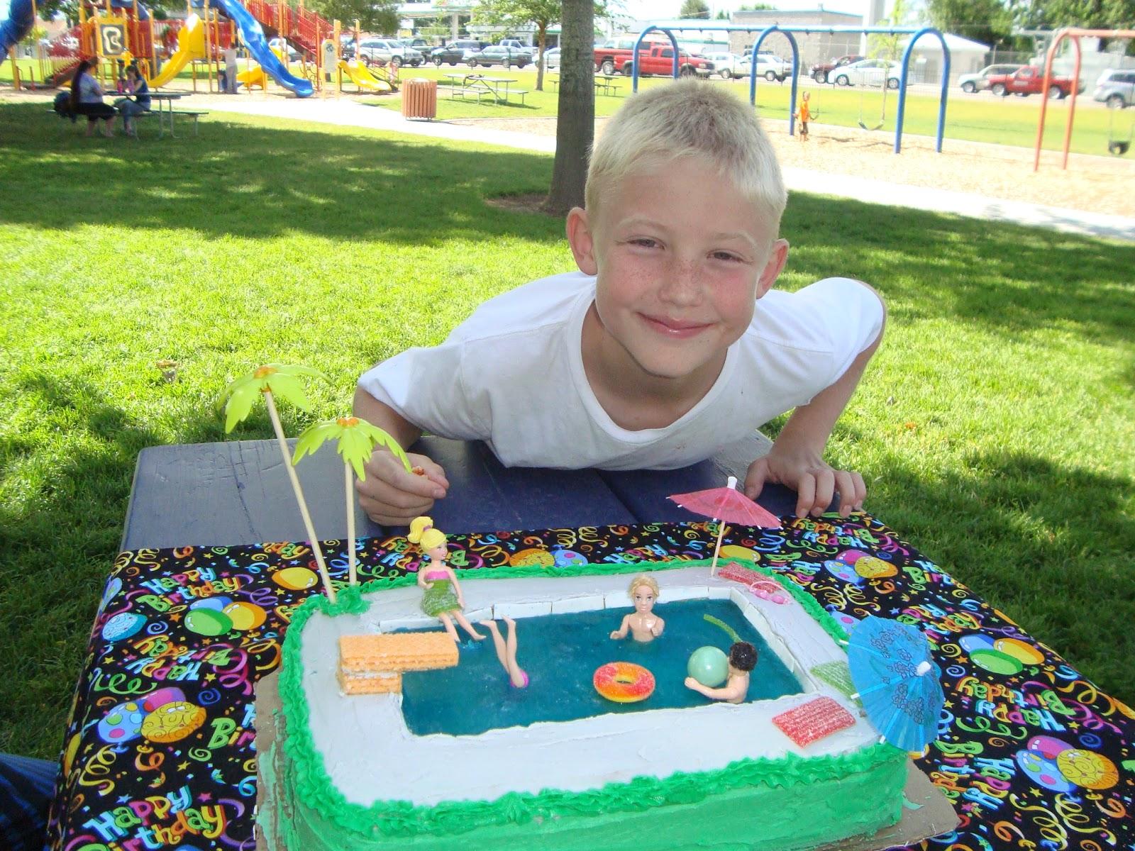 The Creative Homemaker Swimming Pool Birthday Cake