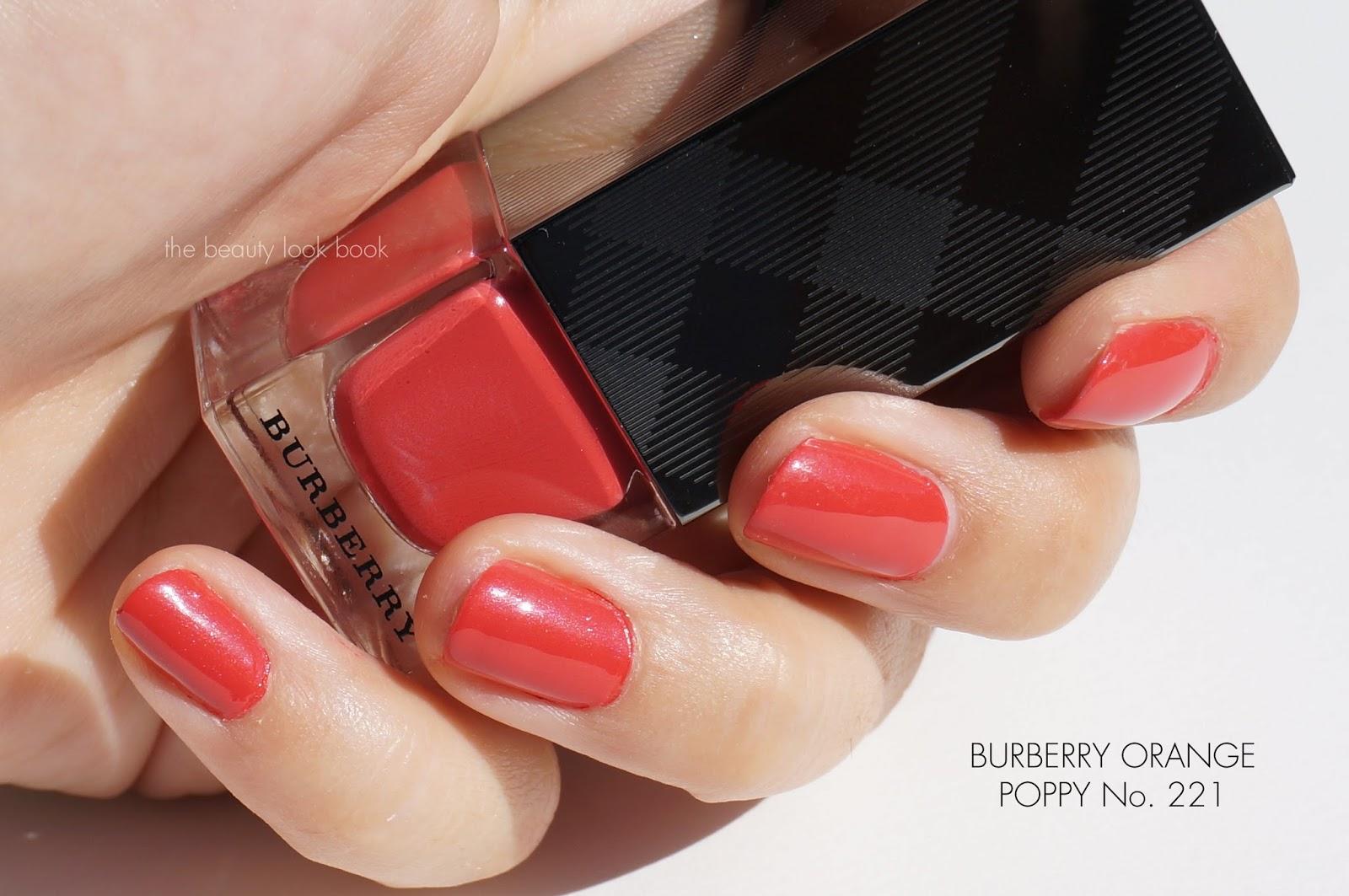 Burberry Summer Showers Lip Glow Balm And Nail Polishes Orange Poppy Pink Peony Azalea