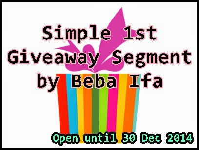 Simple 1st Giveaway Segment by Beba Ifa