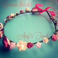 coronas de flores para bodas. coronas de pelo personalizadas