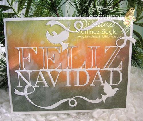 CAS feliz navidad card side view