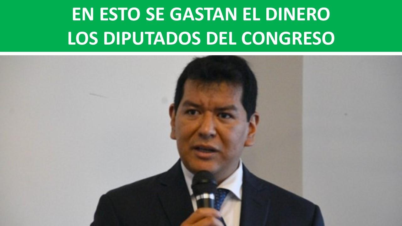 EN ESTO SE GASTAN EL DINERO LOS DIPUTADOS DEL CONGRESO