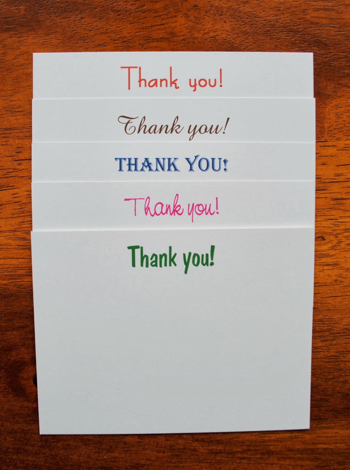 jac o u0026 39  lyn murphy  thank you notes for every type