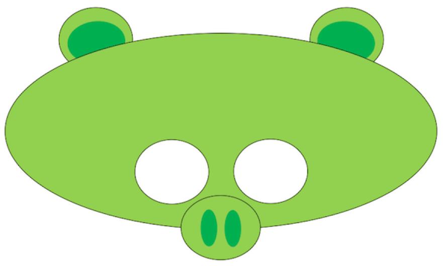 Máscara de cerdo de Angry Bird.