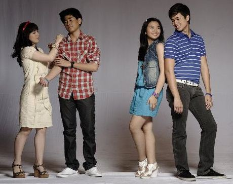 Angeli Gonzales and CJ Navato, Marco Gumabao and Miles Ocampo