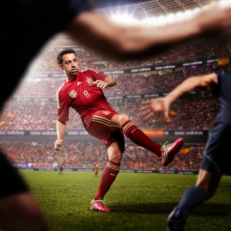 equipación de la roja selección española de fútbol nueva campaña adidas mundial Brasil 2014