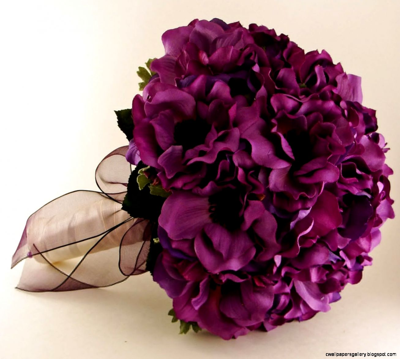 Beautiful Purple And Pink Wedding Flower Bouquets Combined With