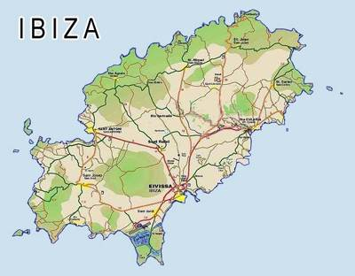 ibiza kartta Balearic Islands Tourism Map Area | Map of Spain Tourism Region  ibiza kartta