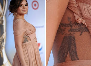 Demi Lovato's rib tattoo