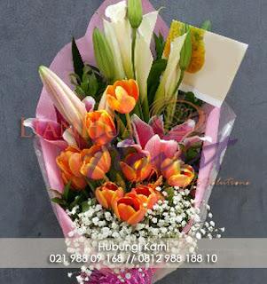 toko bunga dijakarta, toko bunga dipantai indah kapuk, florist jakarta, jual bunga tulip fresh, jual bunga bouquet dijakarta, free delivery, hadiah untuk anniversary