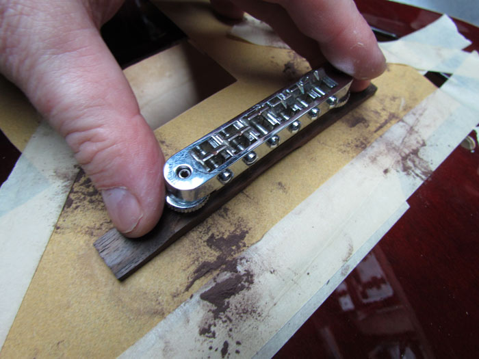 crawls backward when alarmed gretsch g5120 upgrades tv jones so i m going to sand the bottom of the bridge to better fit the contour of the top i tape down a piece of 180 grit paper to the top