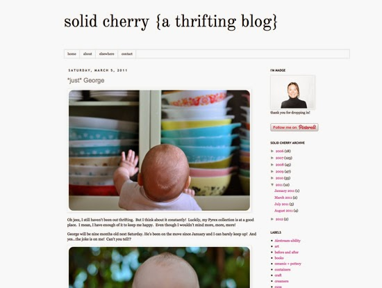 solid cherry {a thrifting blog}