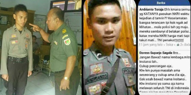 Sebut TNI Penakut Saat Ada Teroris, Polisi Ini Akhirnya Disikat