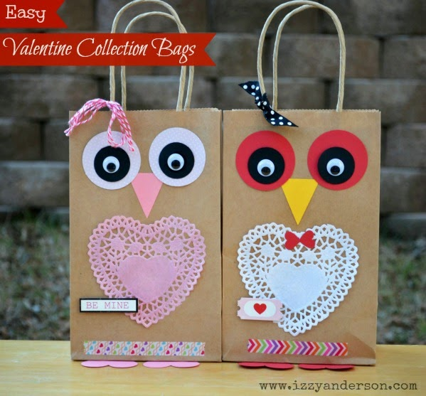 We Made These Owl Treat Bags To Hold Their Valentines. Easier And Cheaper  Than The Traditional Valentine Box.