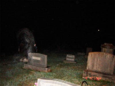 Real Ghost Photo: Vapor-like Ghost at a Cemetery