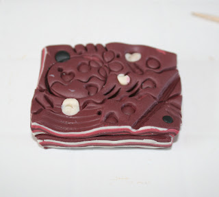 Mokume Gane Polymer Clay - My impressed clay block