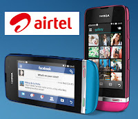 Airtel 2G and 3G data offers for Nokia Asha Smartphones,Nokia Asha 305 Airtel data offer,Nokia Asha 311 Airtel free internet data, Nokia Asha 200 free 2G data in Airtel