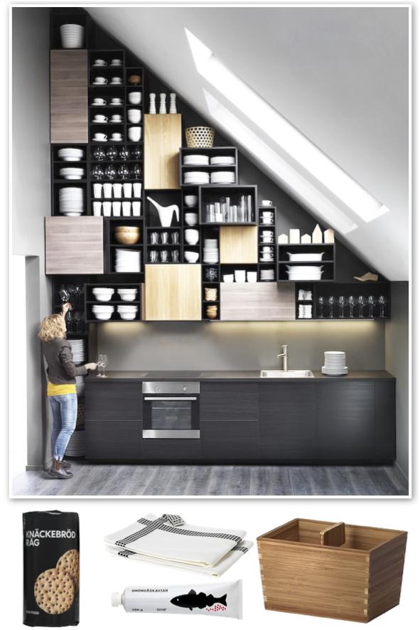 Red address: Kitchen style - Ikea Metod