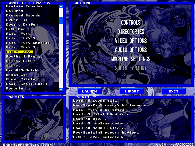 Free NeoRAGEx Neo Geo Emulator Software