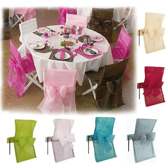 Id et photo d coration mariage photos de d coration de for Housse de chaise rose