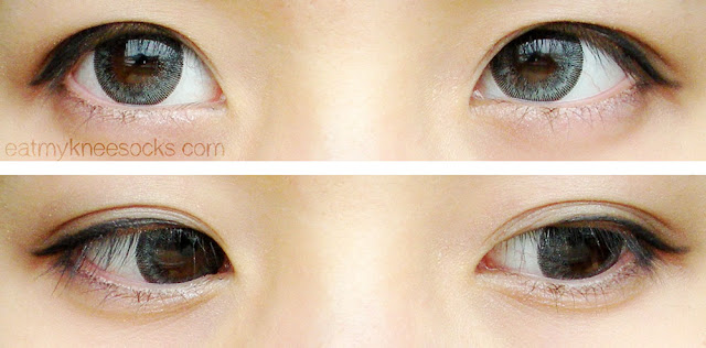 For a dolly ulzzang look, try the T.Top Ice Flower Gray circle lenses, sold at Klenspop for just $13.