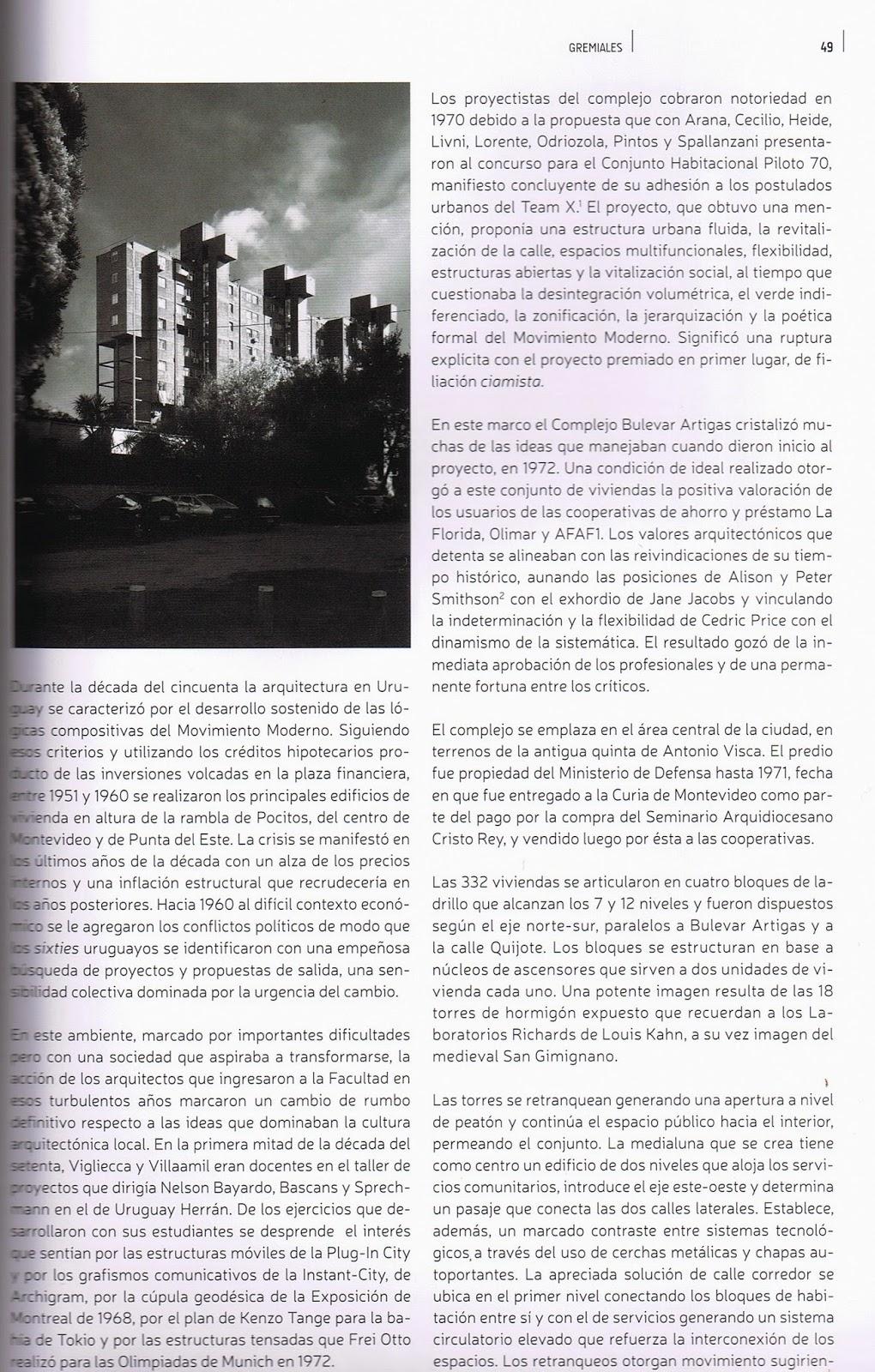 Complejo habitacional bulevar artigas informe 40 a os chba en bolet n de la sociedad de - Sociedad de arquitectos ...