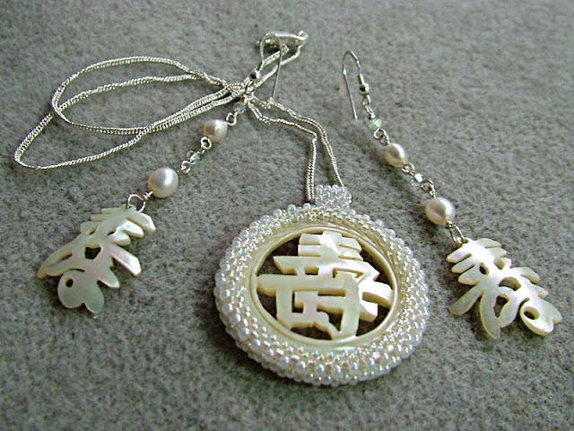 Longevity Necklace and Earrings