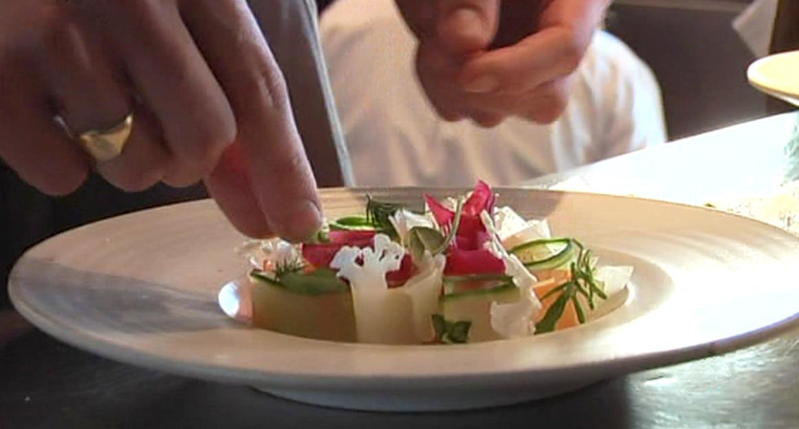 colocación del plato