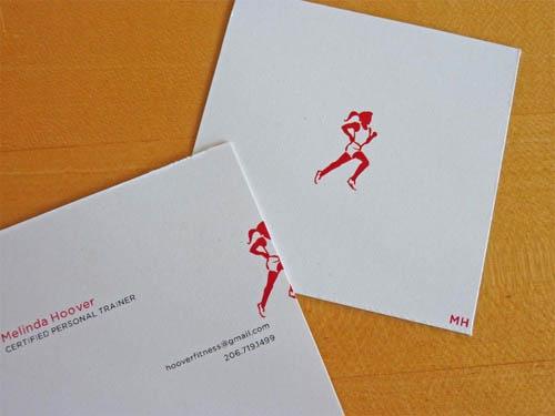 Cartões de visita criativos - Melinda Hoover - Personal Trainer
