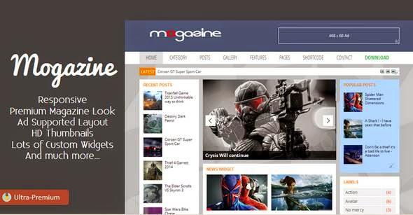 Mogazine Responsive Blogger Template