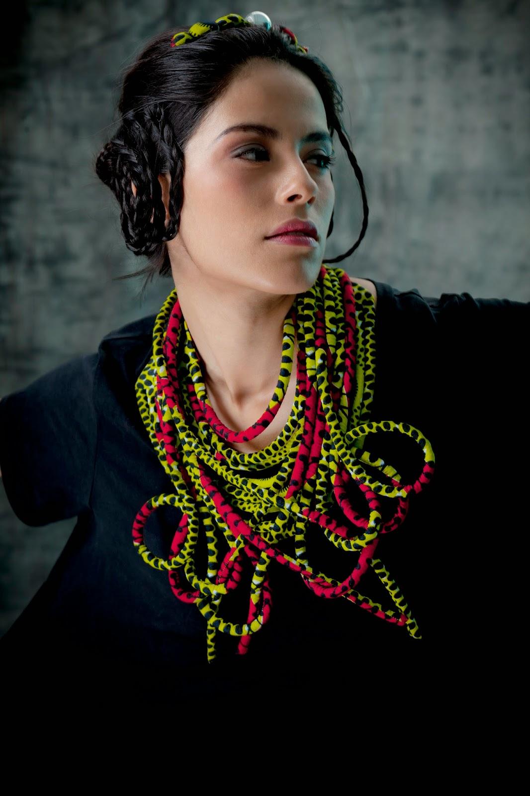 Nadia Dafri fabric jewelry designer