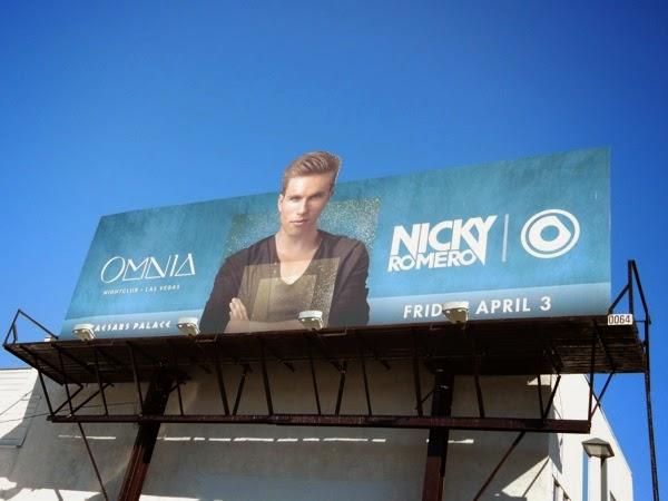 Nicky Romero Omnia nightclub Caesars Palace billboard