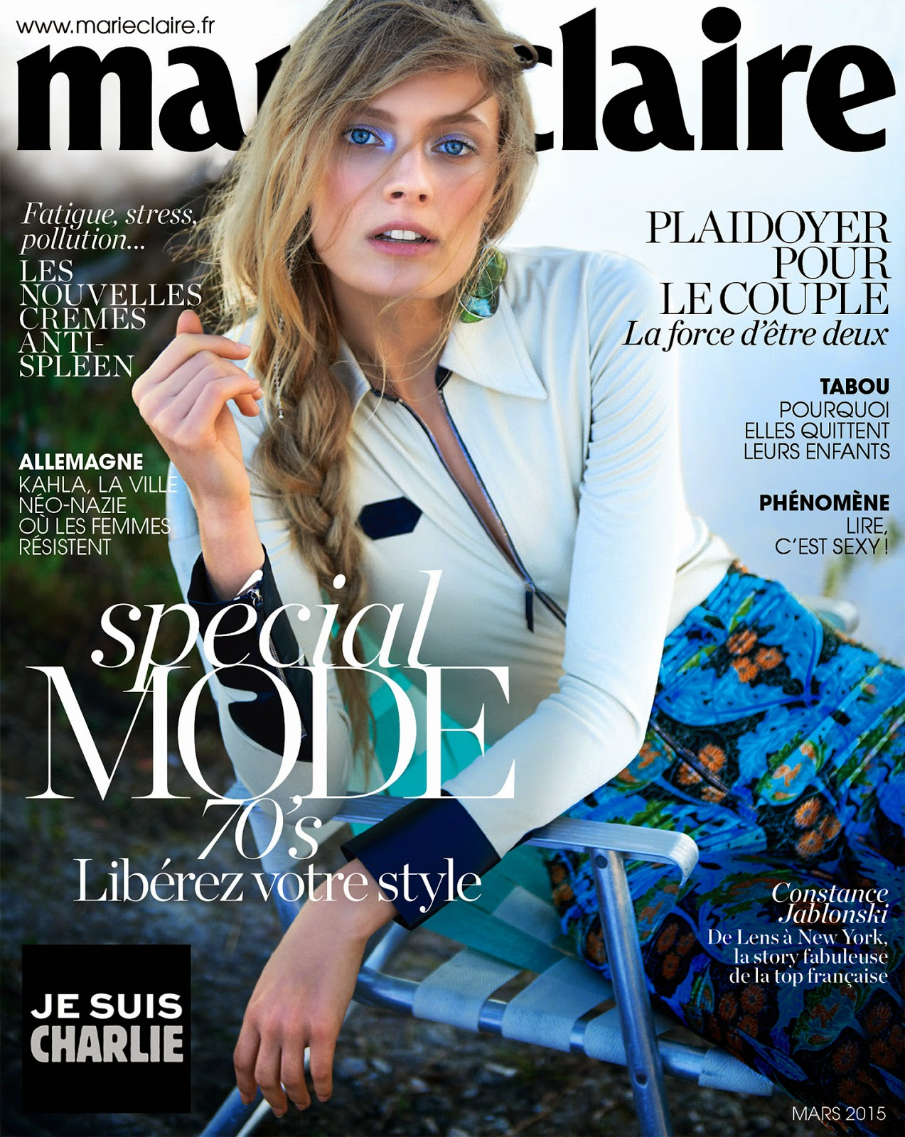 Fashion Model: Constance Jablonski by Tim Barber for Marie Claire France