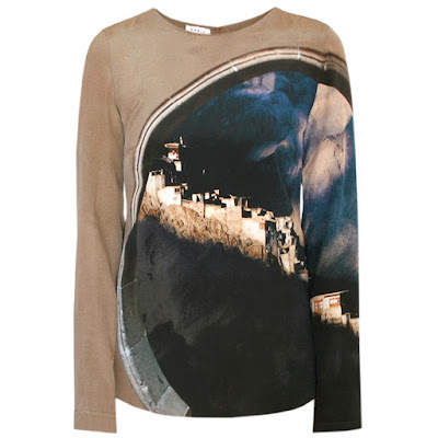 shirt akris punto arc of tibet silk blouse