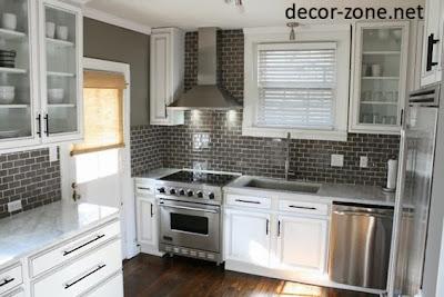 gray kitchen backsplash tile ideas