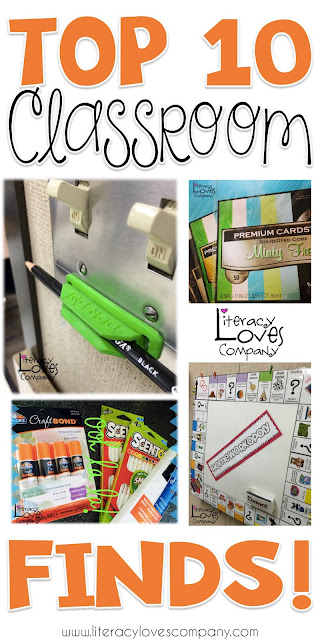 Top 10 list of my favorite finds for the classroom!  Products, gadgets, office supplies, and routines.     Some are clever and some are life savers!  My favorite are #3 and #4!