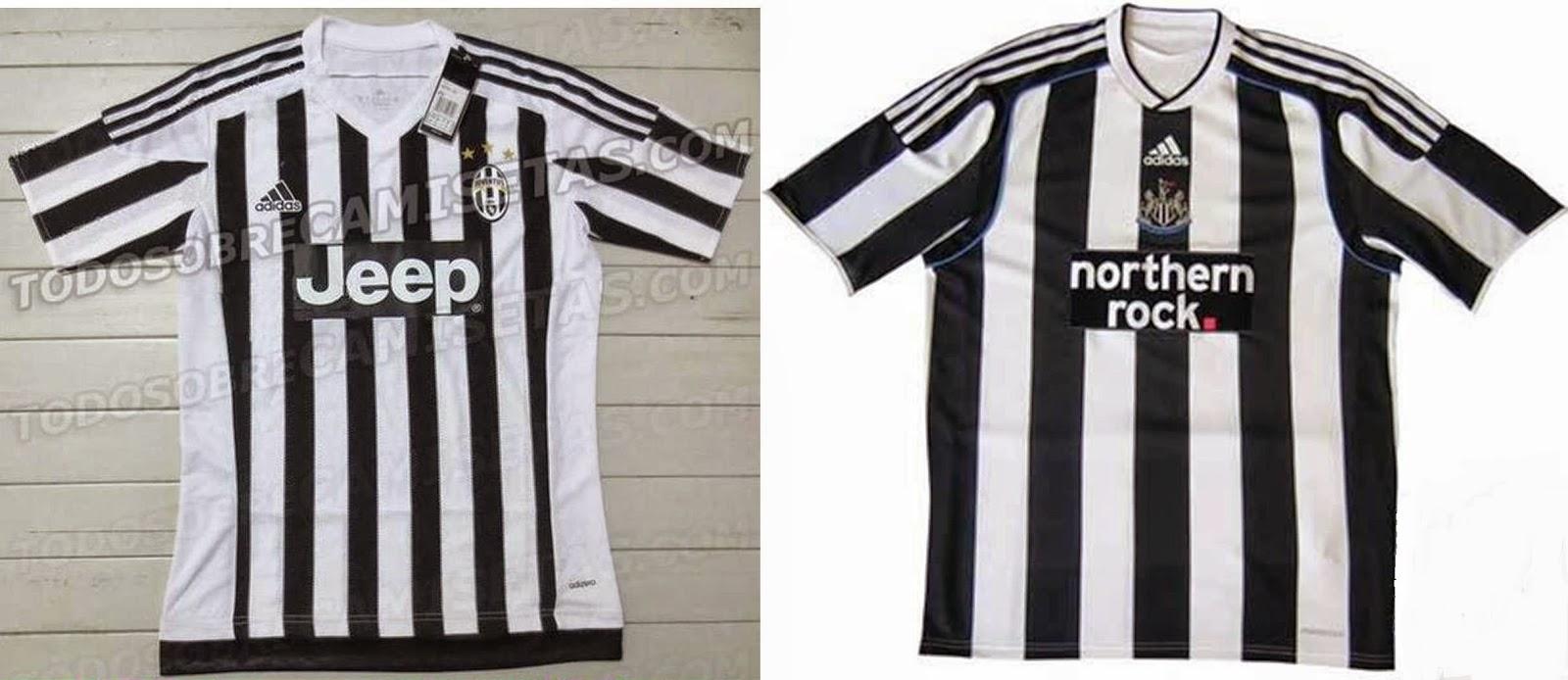 adidas diseña la camiseta de la Juventus igual a una vieja del Newcastle