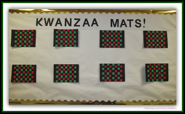 "Woven Kwanzaa Mats via RainbowsWithinReach at ""PreK+K Sharing"