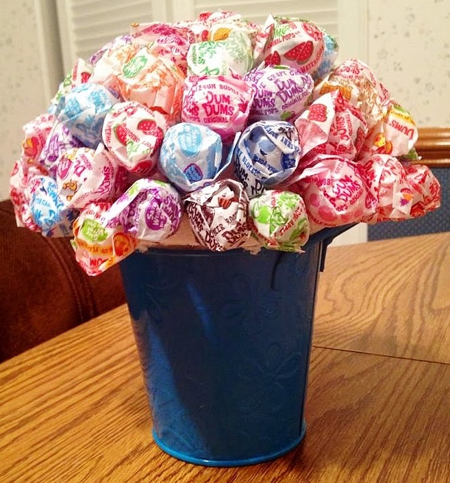 lollipop bouquet DIY