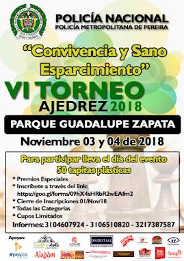 """VI Torneo de Ajedrez POLICIA NACIONAL """"Convivencia y Sano Esparcimiento"""" (Dar clic a la imagen)"""